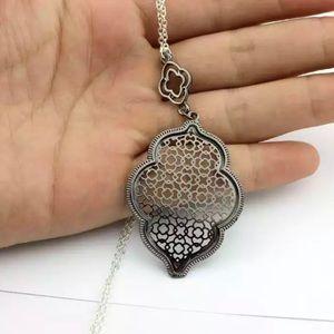 Black Moroccan Filigree Necklace NEW